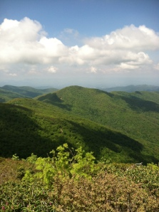View from Craggy Pinnacle Blue Ridge Mtns.