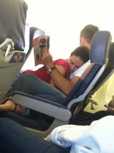 Couple on plane
